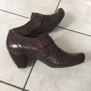 Roberto Vianni Brown Leather Heel Ankle Boots